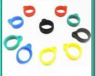 Silikonový kroužek pro šňůrky na krk