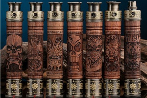 Vision E-fire Wooden Variable Voltage battery 1000mah